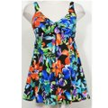 Swim Solutions Garden Party Floral Bow Front Swimdress Tummy Control Swimsuit 8 Image 2