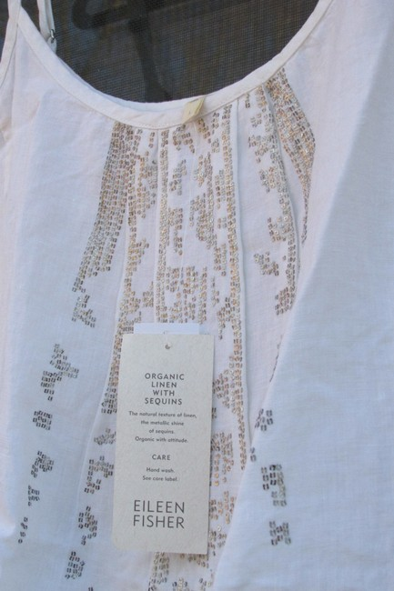 Eileen Fisher short dress white/ gold on Tradesy Image 2