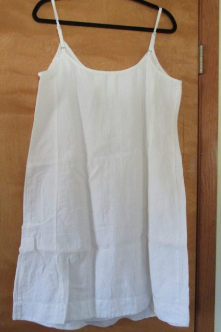Eileen Fisher short dress white/ gold on Tradesy Image 3