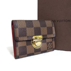 Louis Vuitton Auth Louis Vuitton Damier Porte Monnaie Koala Coin Purse Card Case
