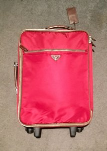 Prada Luggage Trolley Carryon Carry-on Suitcase Red Travel Bag