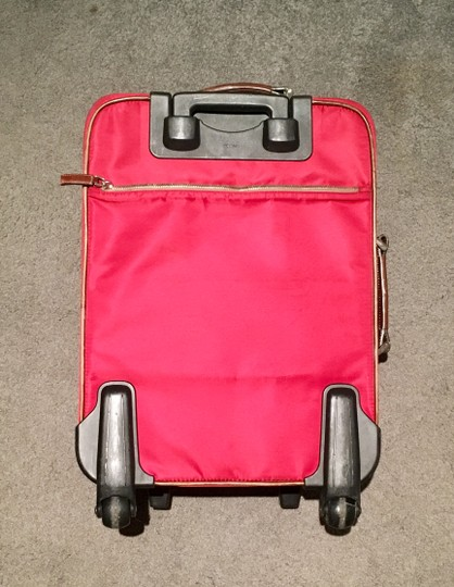 Prada Luggage Trolley Carryon Carry-on Suitcase Red Travel Bag Image 1