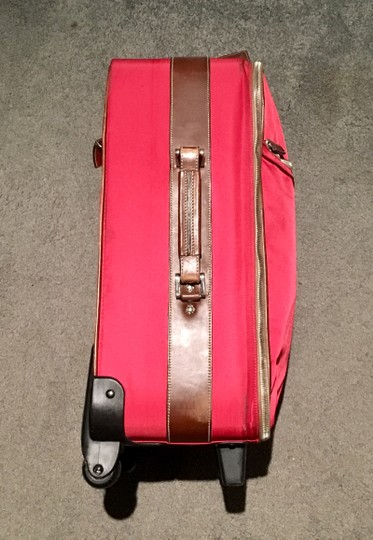 Prada Luggage Trolley Carryon Carry-on Suitcase Red Travel Bag Image 2
