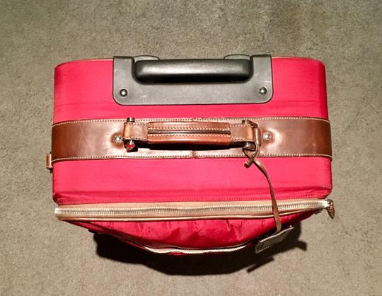 Prada Luggage Trolley Carryon Carry-on Suitcase Red Travel Bag Image 4