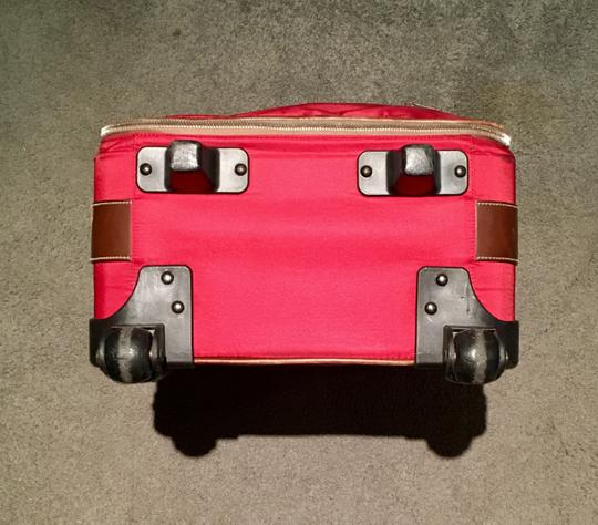 Prada Luggage Trolley Carryon Carry-on Suitcase Red Travel Bag Image 5