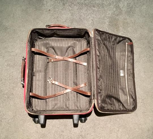 Prada Luggage Trolley Carryon Carry-on Suitcase Red Travel Bag Image 6
