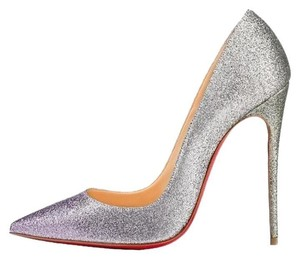 Christian Louboutin So Kate Glitter Drage Degrade Silver Pumps