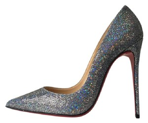 Christian Louboutin So Kate Glitter Disco Ball Multicolor Pigalle Follies Silver Pumps
