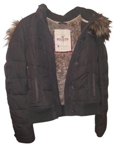 Hollister Removable Hood Fur Faux Fur Winter Coat