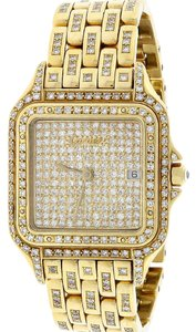 Cartier Cartier Santos Demoiselle Gold Ladies w/Diamond Dial, Bezel & Bracelet