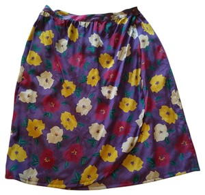 Emanuel Ungaro Paris Wrap Vintage Skirt Purple Multi