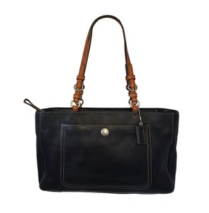 Coach Pebbled Leather Chelsea Rare Tote in Black