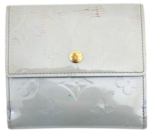 Louis Vuitton #11317 *Clearance* Blue Vernis Leather Double Sided Wallet