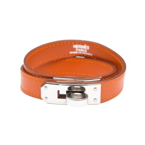 Hermès Hermes Orange Calfskin Kelly Double Tour Bracelet