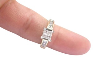 Other Fine Invisible Diamond Engagement Ring YG 14KT 1.00CT