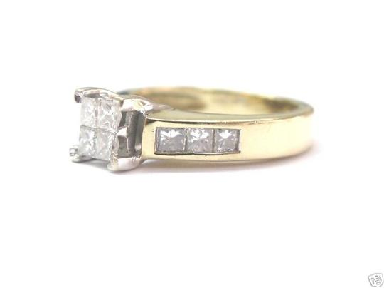 Other Fine Invisible Diamond Engagement Ring YG 14KT 1.00CT Image 1