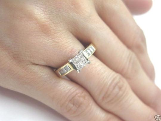 Other Fine Invisible Diamond Engagement Ring YG 14KT 1.00CT Image 2