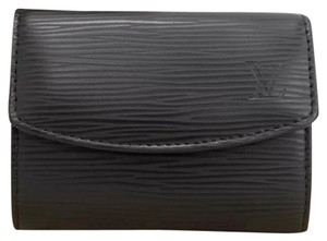 Louis Vuitton Porte monnaie black epi leather small coin case purse
