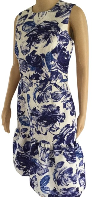Preload https://img-static.tradesy.com/item/21153131/teri-jon-blueivory-sleeveless-ruffle-hem-floral-print-short-cocktail-dress-size-4-s-0-1-650-650.jpg