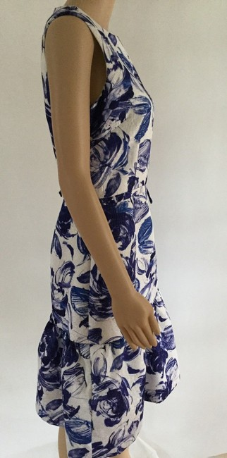 Teri Jon Floral Print Ruffle Hem Sleeveless Dress Image 2