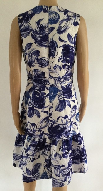 Teri Jon Floral Print Ruffle Hem Sleeveless Dress Image 3