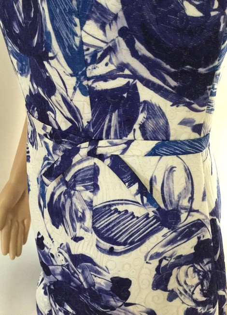 Teri Jon Floral Print Ruffle Hem Sleeveless Dress Image 4