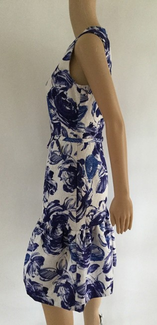 Teri Jon Floral Print Ruffle Hem Sleeveless Dress Image 5