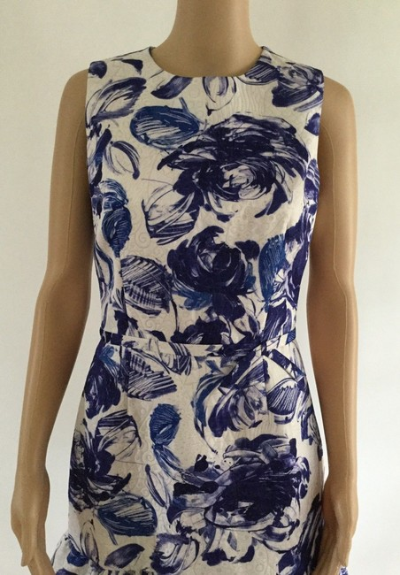 Teri Jon Floral Print Ruffle Hem Sleeveless Dress Image 7