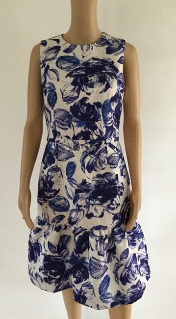 Teri Jon Floral Print Ruffle Hem Sleeveless Dress Image 8