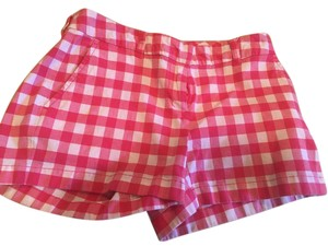 Vineyard Vines Red White Gingham Mini/Short Shorts pink check