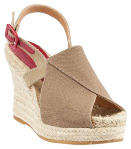 Bettye Muller Taupe Wedges