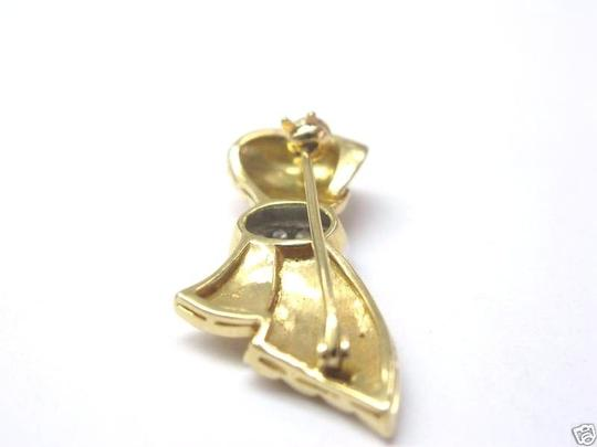 Other Fine 18Kt Ribbon Diamond Pin/Prooch Yellow Gold 0.50CT Image 1