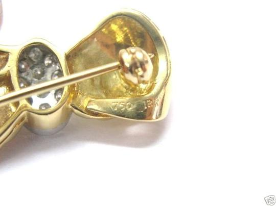 Other Fine 18Kt Ribbon Diamond Pin/Prooch Yellow Gold 0.50CT Image 3