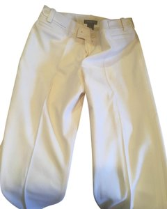 Ann Taylor Ivory Trouser Straight Pants Winter white
