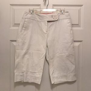 Nine West New/nwt Comfortable Spandex Dress Bermuda Shorts White
