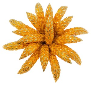Chanel Vintage 1993 Gold Flower Brooch