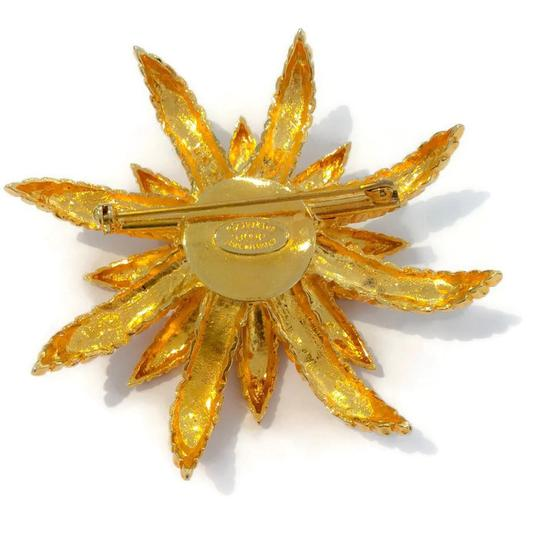 Chanel Vintage 1993 Gold Flower Brooch Image 2