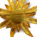 Chanel Vintage 1993 Gold Flower Brooch Image 3