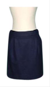 J.Crew Scallop Mini Mini Skirt navy
