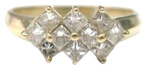 Other Fine Princess Cut Diamond Invisible Yellow Gold Ring 14KT 1.00CT