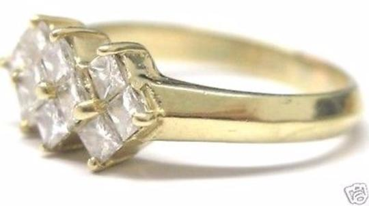 Other Fine Princess Cut Diamond Invisible Yellow Gold Ring 14KT 1.00CT Image 2