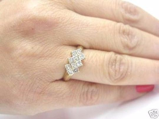 Other Fine Princess Cut Diamond Invisible Yellow Gold Ring 14KT 1.00CT Image 5