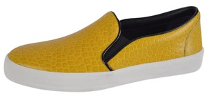 Burberry Sneakers Rubber Slip On Yellow and White Flats