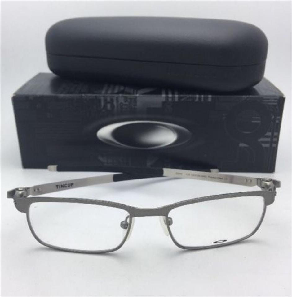 a0668cde09 Oakley New Tincup Ox3184-0450 50-17 135 Powder Steel Frame Sunglasses