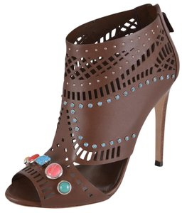 Gucci Sandals Laser Cut Brown Boots