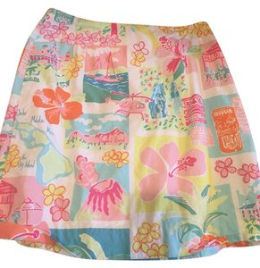 Lilly Pulitzer Hawaii Skirt Blues/pinks/white with subtle green