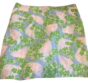 Lilly Pulitzer Skirt Blue white with green