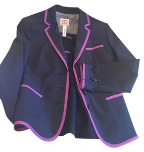 Brooks Brothers Brooks Brothers Red Fleece Pinstriped Jacket for women