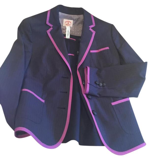 Preload https://img-static.tradesy.com/item/21153619/brooks-brothers-navy-and-purple-red-fleece-pinstriped-jacket-for-women-skirt-suit-size-2-xs-0-1-650-650.jpg