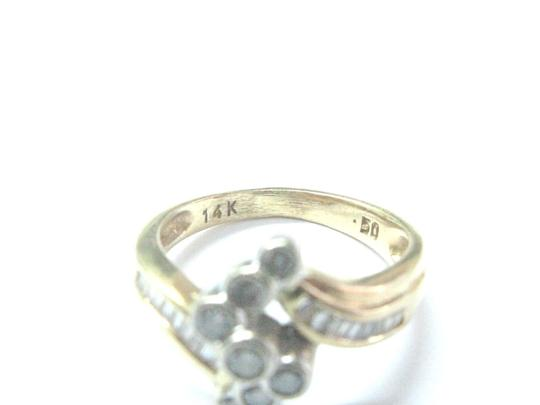 Other Fine Round & Baguette Diamond Criss Cross Yellow Gold Ring .50Ct Image 1